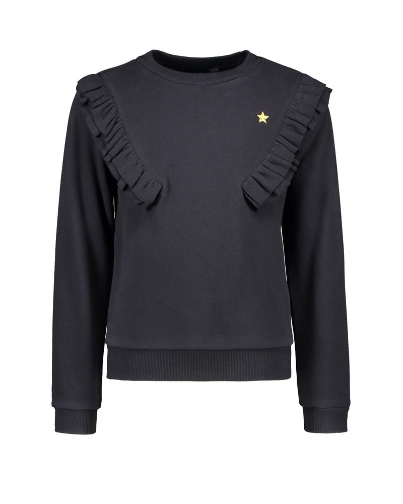 Like Flo Flo girls sweater fancy rib ruffle (5303)