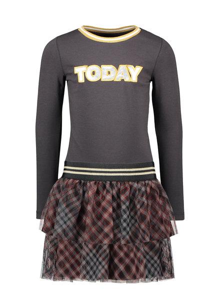 Like Flo Flo girls jersey ls dress AO mesh skirt (5800)