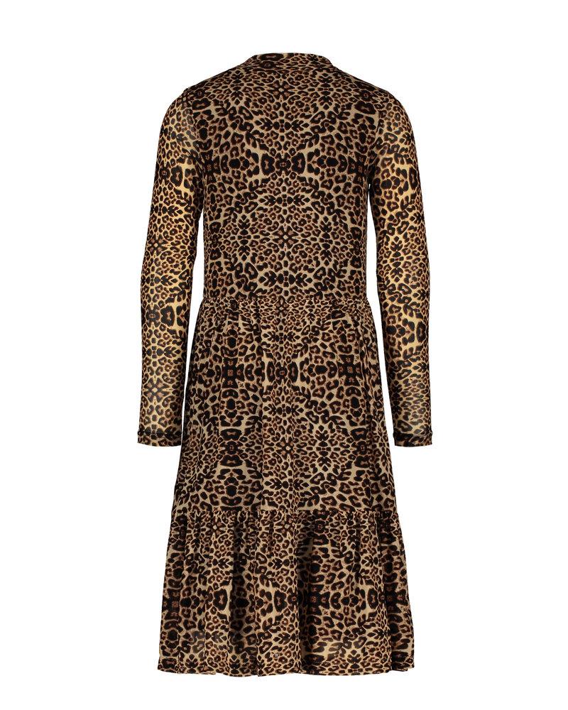 Like Flo Flo girls animal mesh dress (5846)