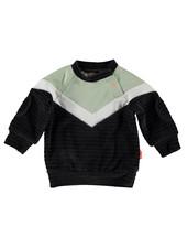BESS Sweater Velvet Colorblock BESS