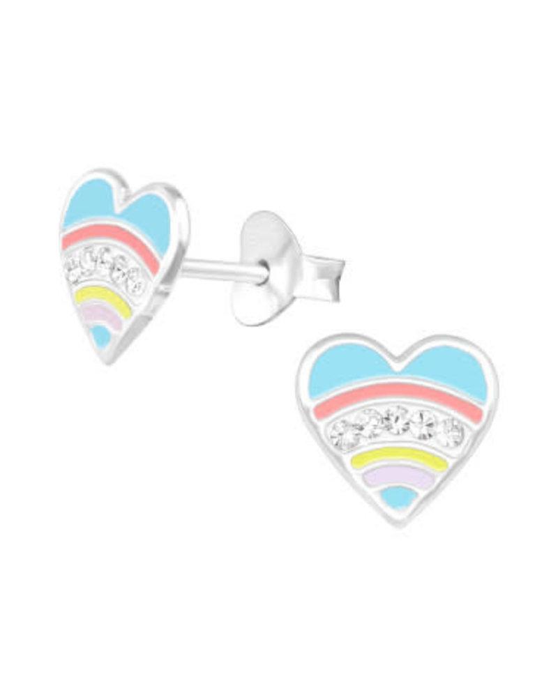 Zilveren hartjes oorstekers