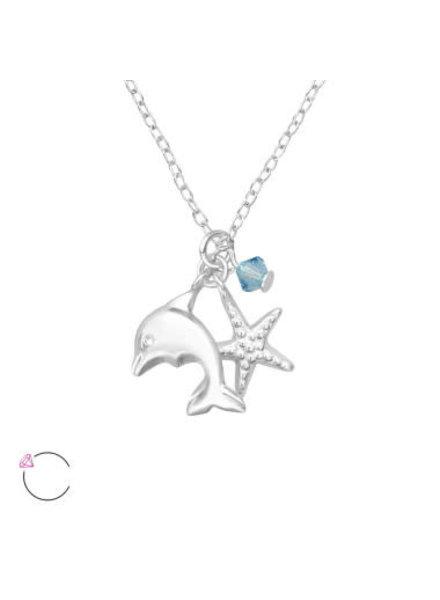Ketting dolfijn zilver