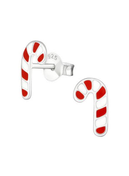 Zilveren kerst oorbel