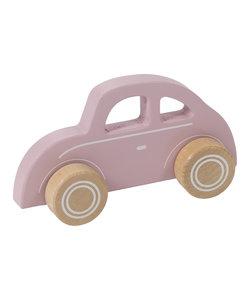 Houten roze auto