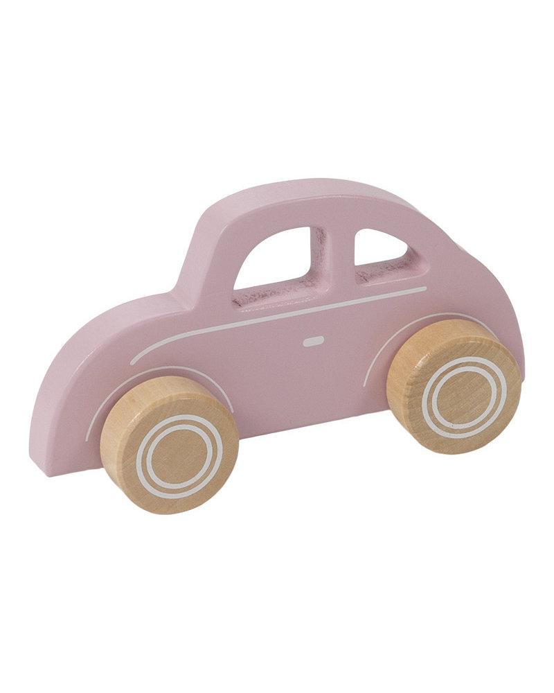 Little Dutch Houten roze auto