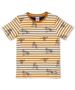 T-shirt streep - Happy Camper Sturdy