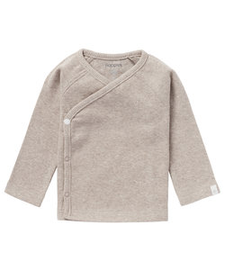 Overslag T-shirt Taupe Noppies