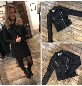 001 Crazy Lover Jacket Biker Leather Black