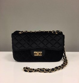 Bag Velvet Chain Black
