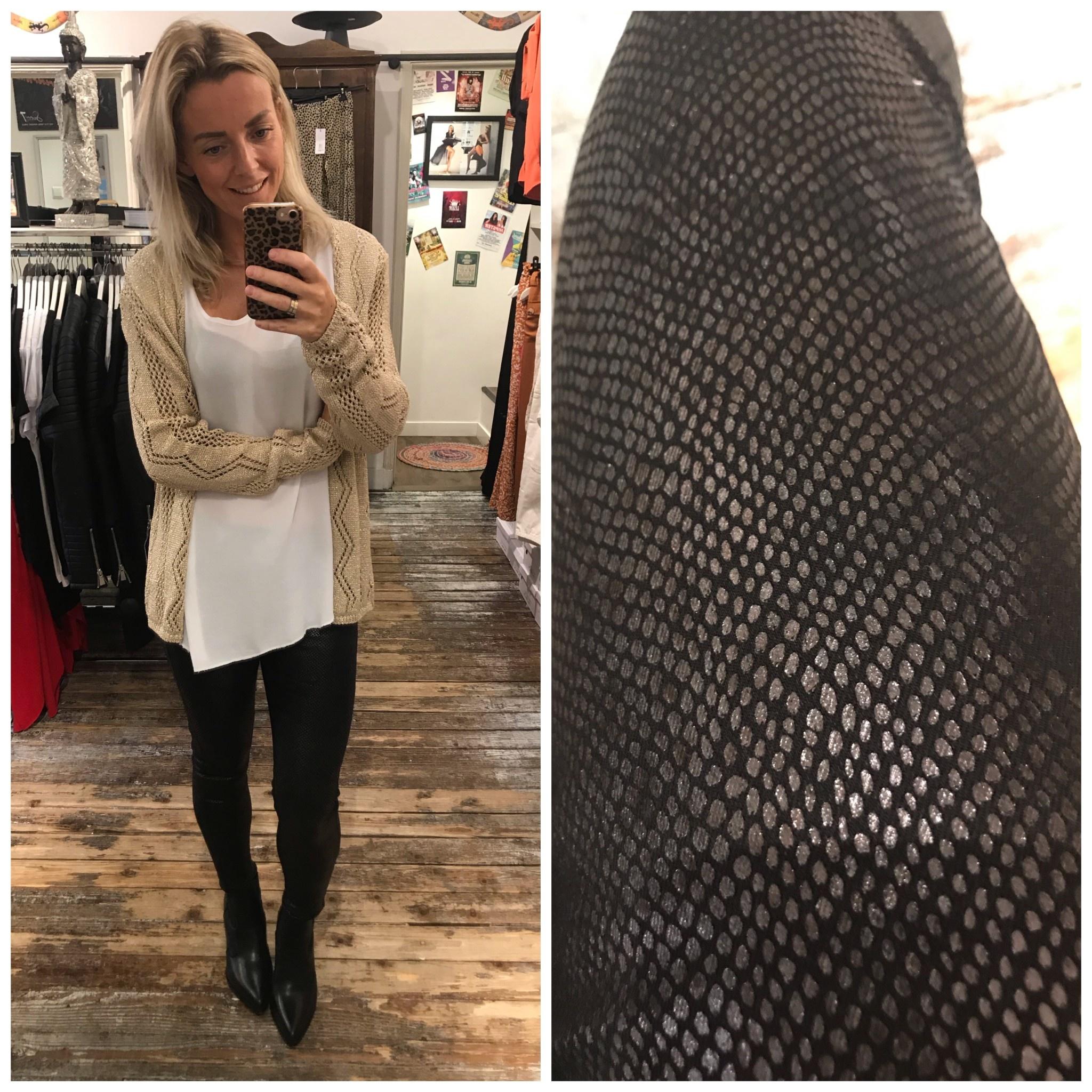 89373 Best Fashion Pants Snake Black
