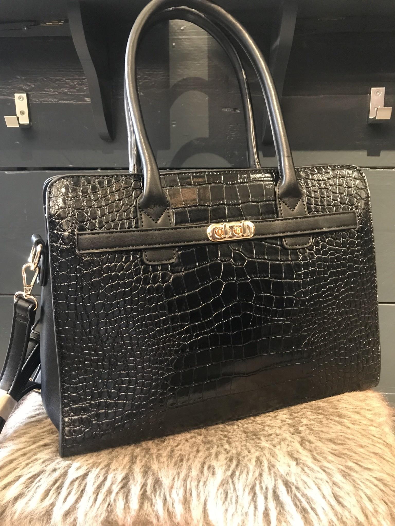 Bag Boss Croco Black