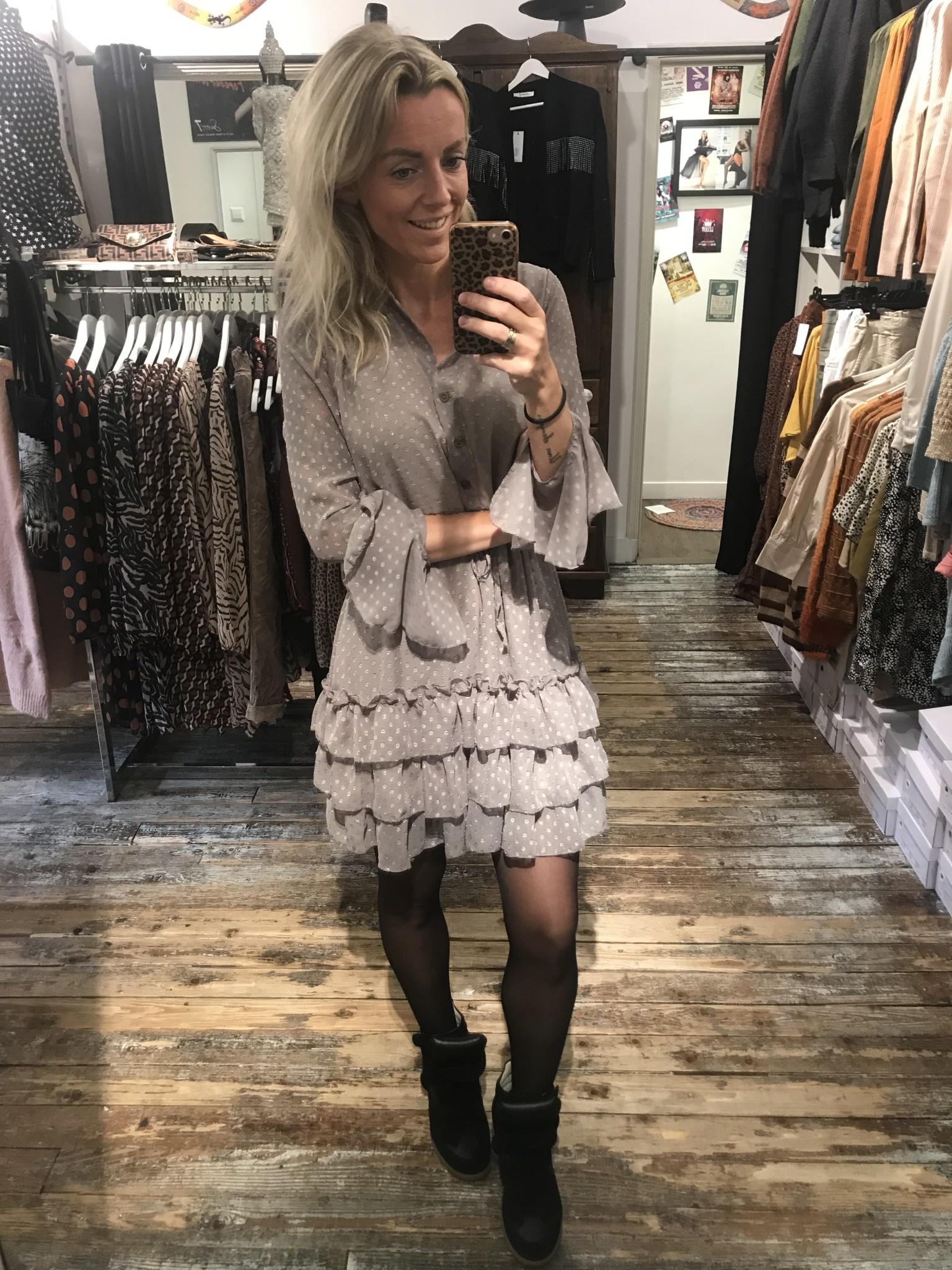 507 Dress Sweet Dot Grey