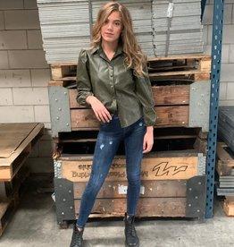 Ambika Blouse Leather Pof Green