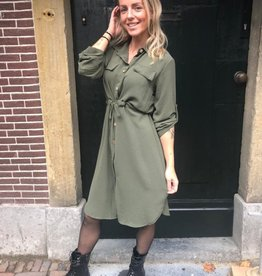 1104 New Collection Dress Bow Basic Green