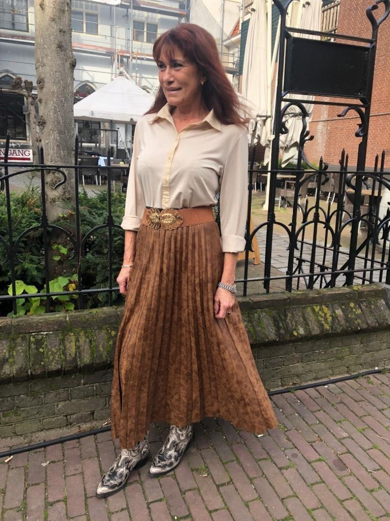 292 3Y Style Skirt Suede Look Brown