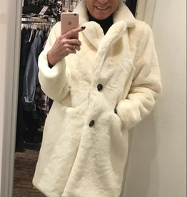 122 Coat Ice Button White