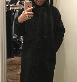 907 Couperose Coat Long Black