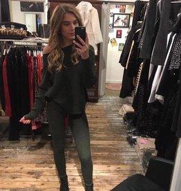 165 Purple Queen Comfy Suit Sweater Legging Green