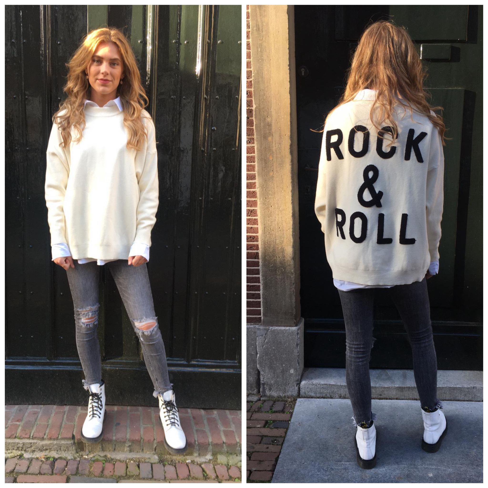 1947 Sweater Rock & Roll Basic White