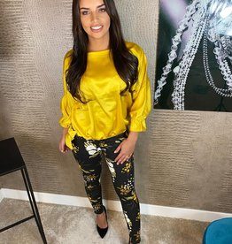 250 Hello Miss Jeans Flower Yellow