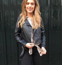 2023 Copperose Jacket Snake Leather Black