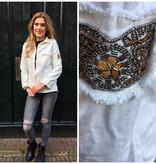 5007 Ciminy Jacket Denim Ibiza White