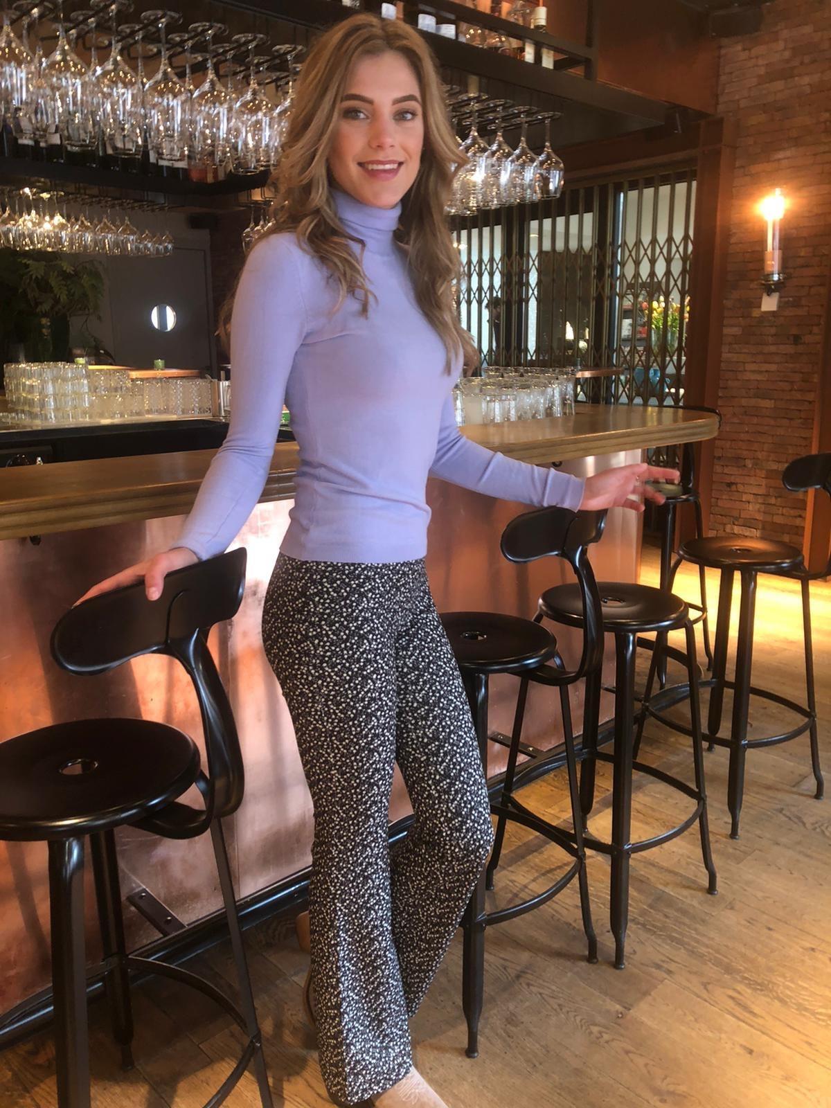 067 Eight Paris Pants Flair Violet