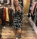 1001 Italy Fashion Dress Blouse Letter White