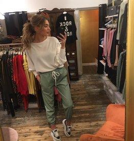 3383 Mybel Pants Leather Jogging Mint