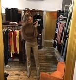 Ambika Salma Pants Flair Leather Coffee