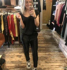 111 Dyve Twinset Top Pants Silk Black