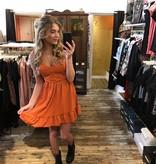 021Dress Dancy Orange