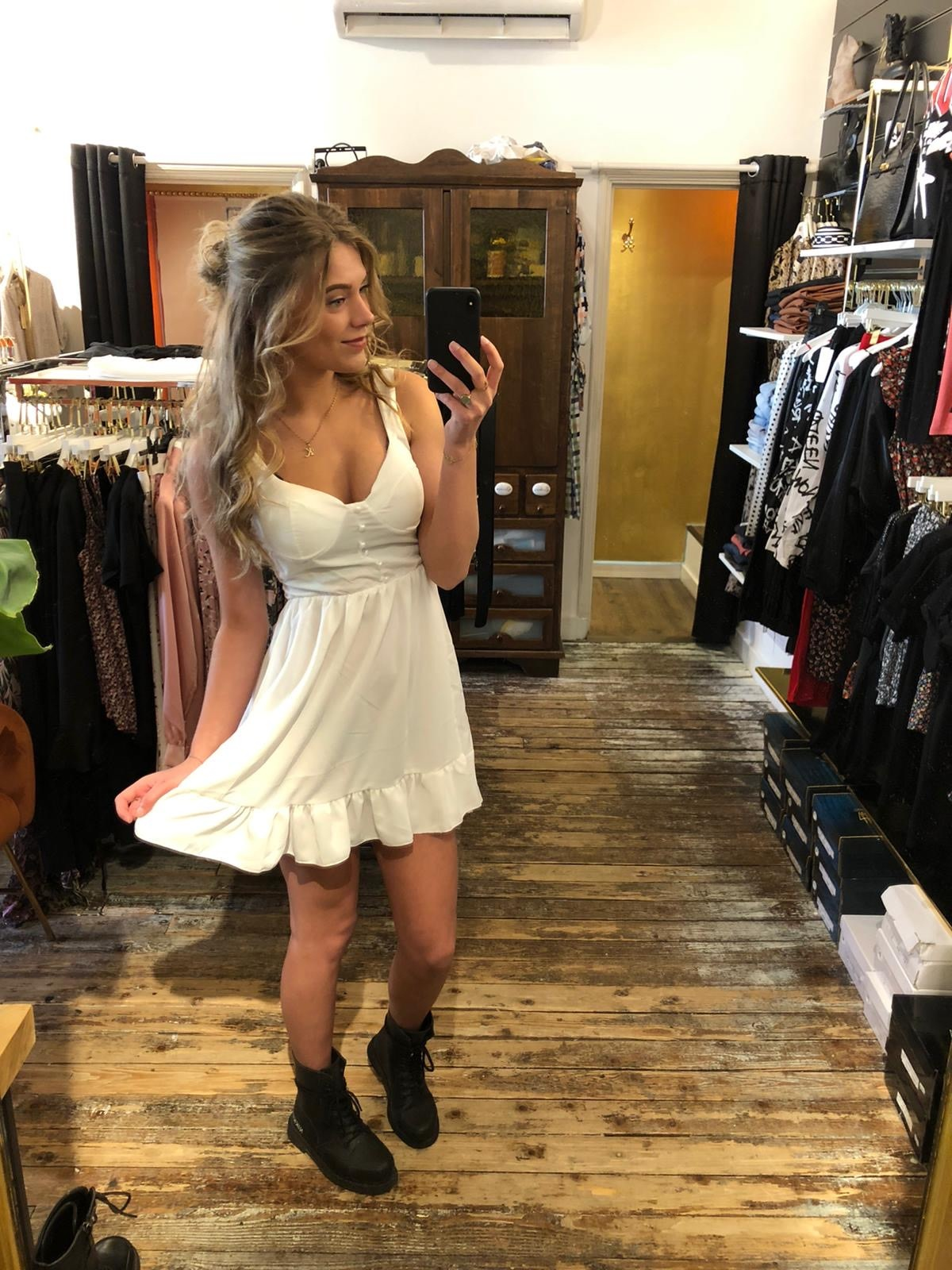 021 Dress Dancy White