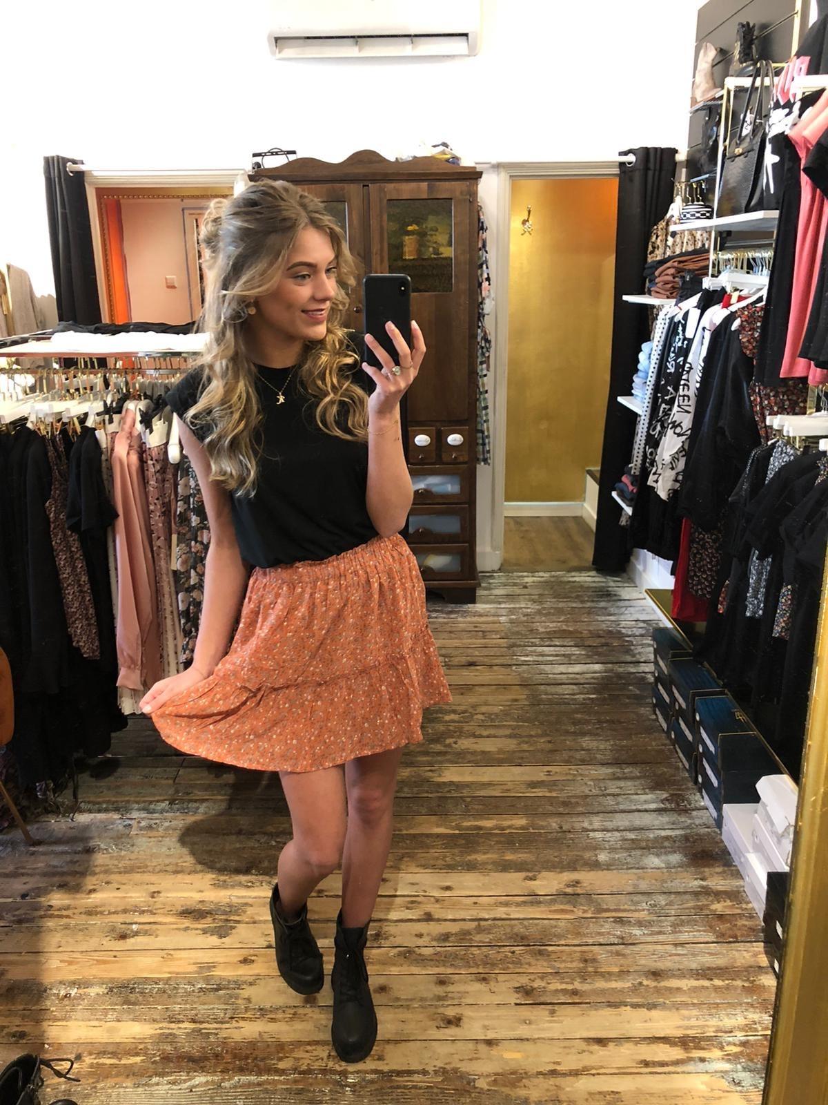 3843 Skirt Butterfly Orange
