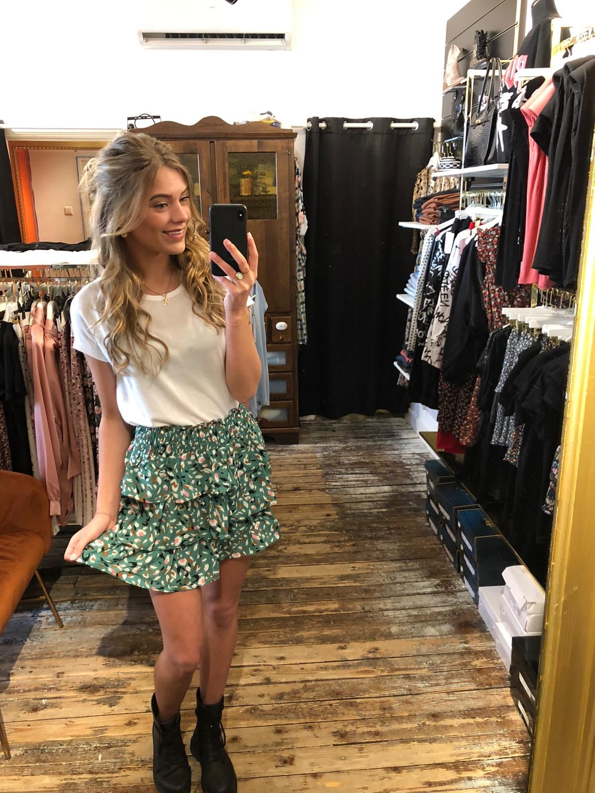 400 Skirt Happy Summer Green