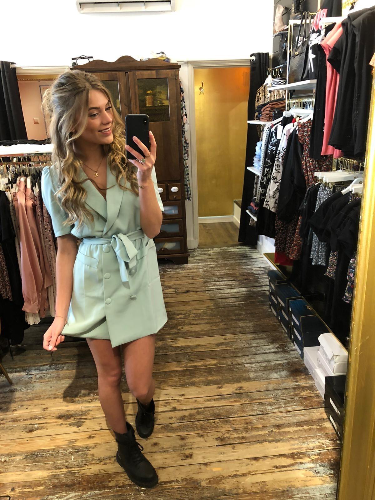 073 Dress Colbert Mint
