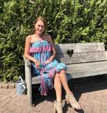 Dress Skirt Gold and Silver Senorita Blue Pink (kan zowel als jurk en rok gedragen worden)