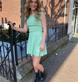 5516 By Clara Twinset Skirt Top Roman Green