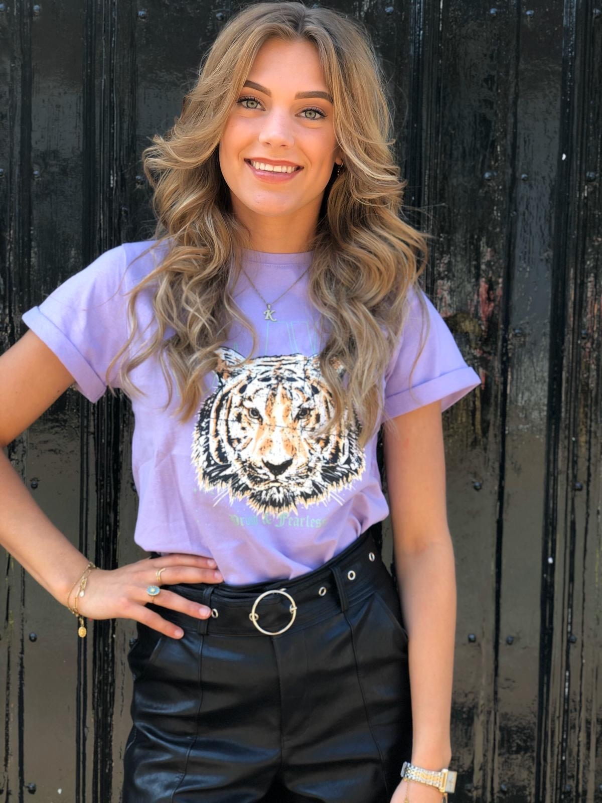 Ambika Tee Proud and Fearless Purple