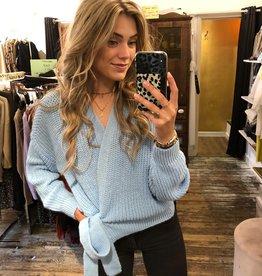 1116 Moda Valentina Cardigan Knit Blue