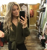 1116 Moda Valentina Cardigan Knit Green