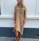 2009 Dins Tricot Sweater Dress Maxi Camel