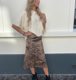 16099 Eight Paris Skirt Zebra Brown