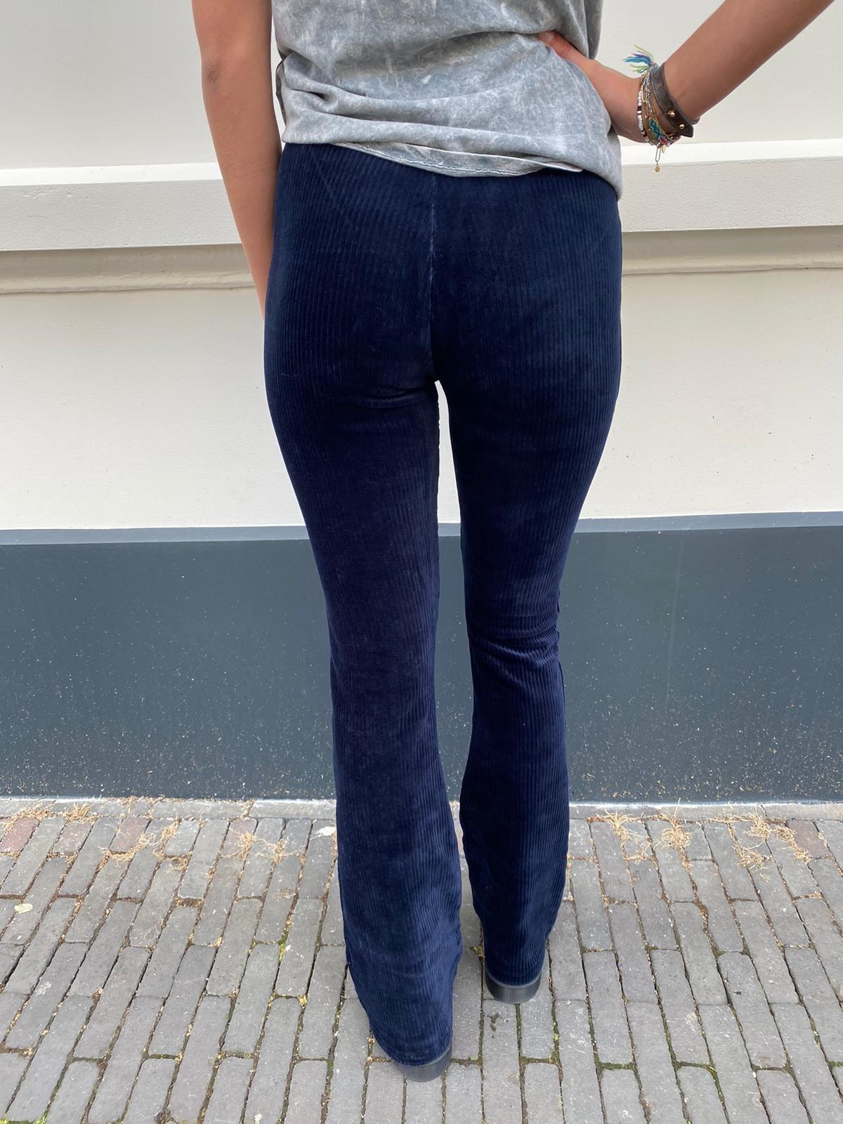 Ambika 2010 ambika Flared Pants Corduroy Blue