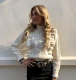 8648 Ciminy Sweater Ruffle Off White