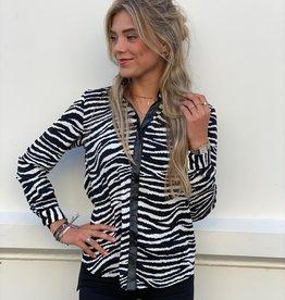 2755 Amy & Clo Blouse Zebra Black