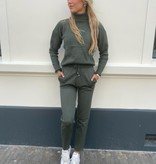 152 Azaka Comfy Suit Col Army Green