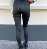 642 Queen Heart leather Pants Warm Skinny Black