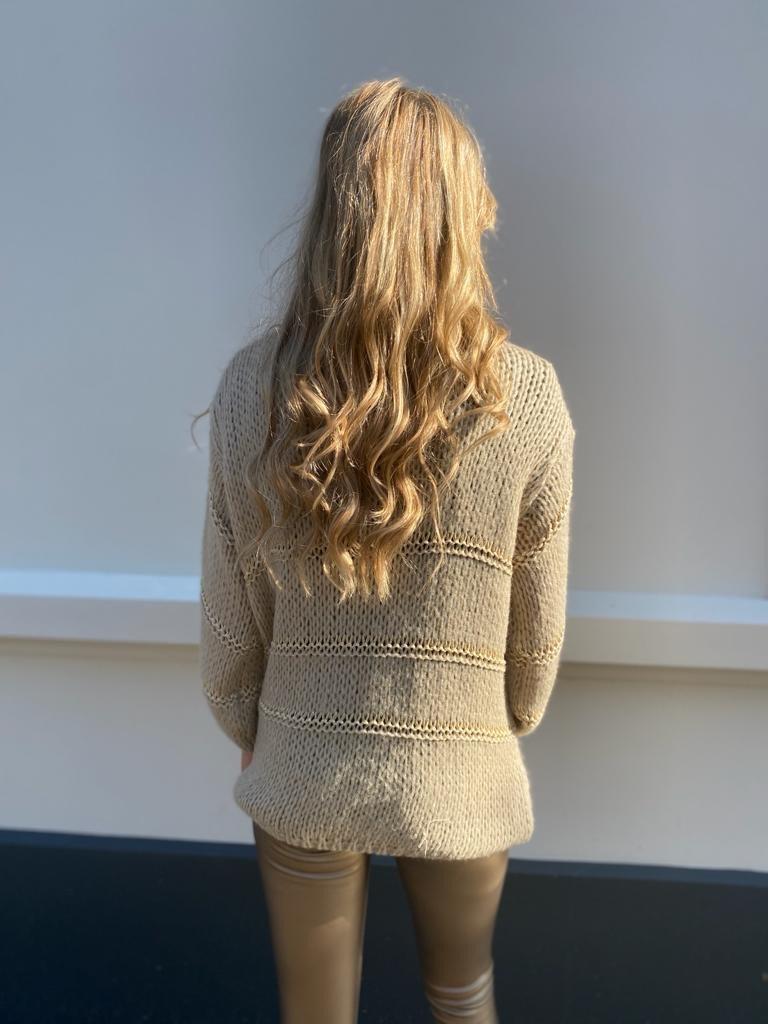 2012 Moda Italy Vests Gold Wire Beige