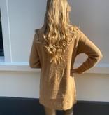 7001 Azaka Vests Golden Button Camel